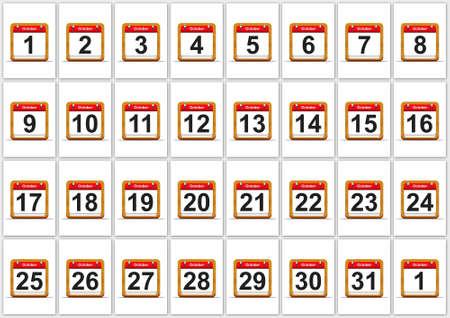 Illustration elegant October calendar on white background  Stock Illustration - 17288275