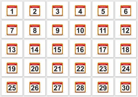 Illustration elegant September calendar on white background Stock Illustration - 17288271