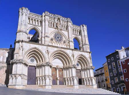 cuenca: View of facada Cuenca cathedral in Spain