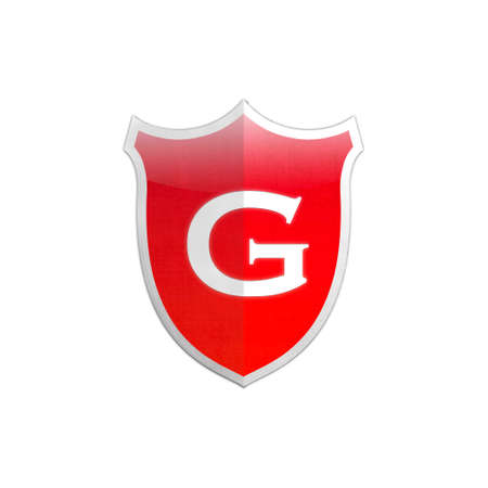Illustration with letter G secure shield on white background Stock Illustration - 17510799