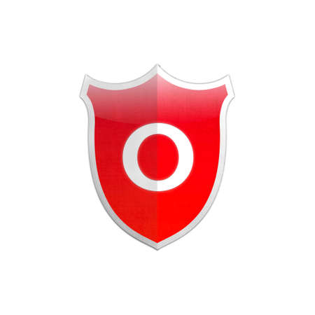 Illustration with number 0 secure shield on white background  illustration