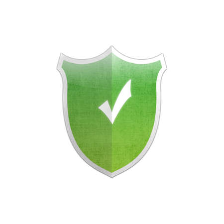 Illustration with Ok sign secure shield on white background  Stock Illustration - 17510819