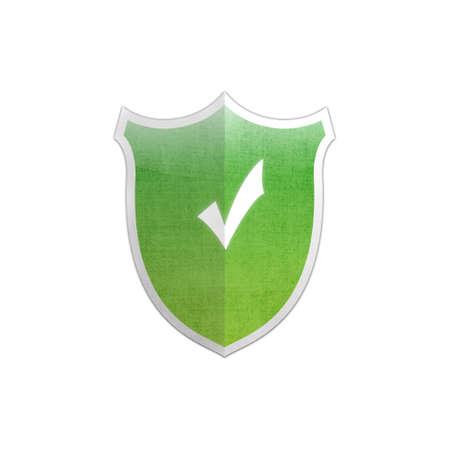 Illustration with Ok sign secure shield on white background Stock Illustration - 17510819