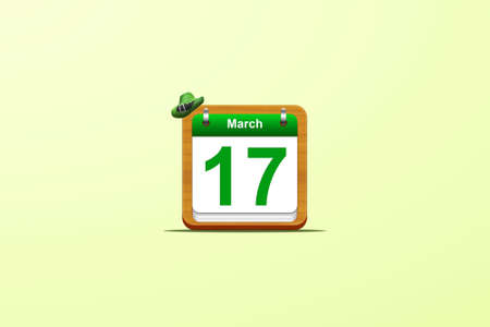 Illustration with a St Patrick day calendar Stock Illustration - 17815049
