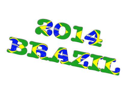 Illustration with a Brazil 2014 on white background  Stock Illustration - 18011975