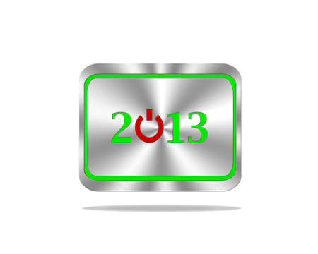 Aluminum frame illustration with 2013 on white background  illustration