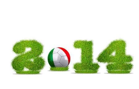 Illustration with Italy soccer  2014 on white background Stock Illustration - 18057197