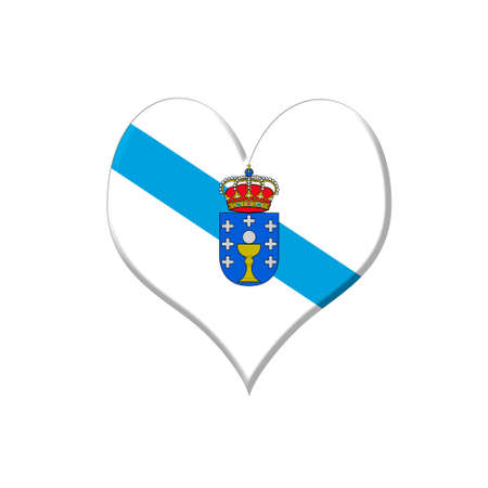 orense: Illustration with a Galicia heart on white background  Stock Photo