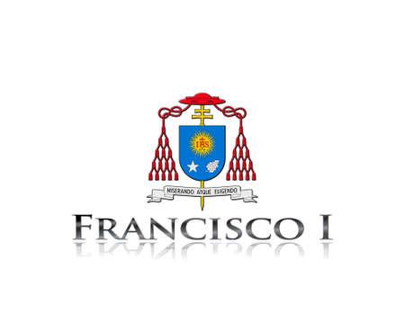IIlustration with phrase Francisco I on white background  photo