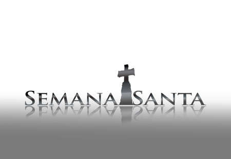 Illustration with phrase Holy week on white background  Stockfoto