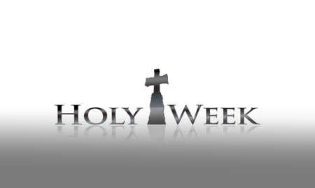 Illustration with phrase Holy week on white background  Stockfoto