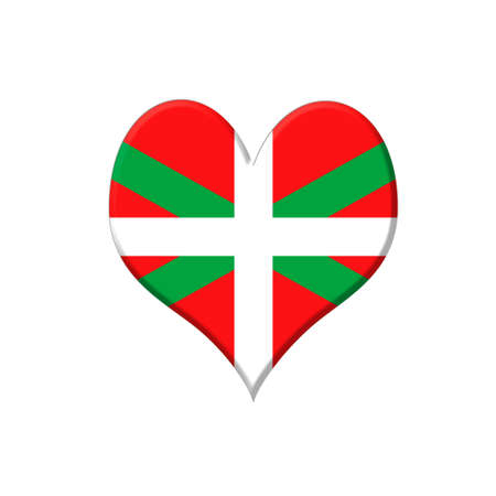 pays: Illustration with a Euskadi heart on white background