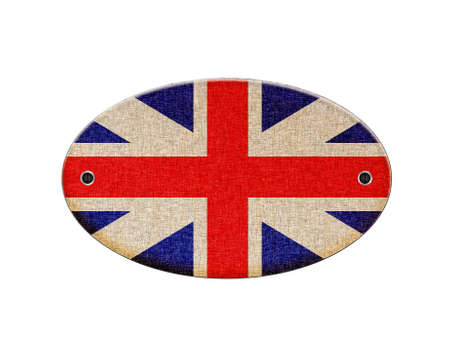 Illustration with a wooden sign of United Kingdom  illustration