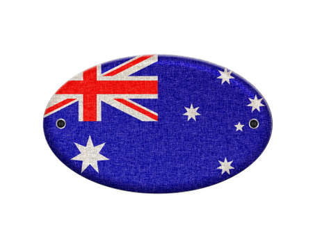 Illustration with a wooden sign of Australia  illustration