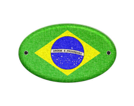 Illustration with a wooden sign of Brazil  illustration