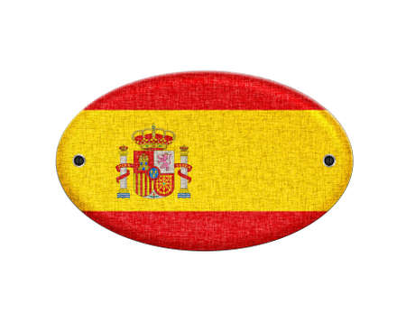 Illustration with a wooden sign of Spain  illustration