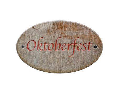 Illustration with a wooden sign of Oktoberfest  illustration