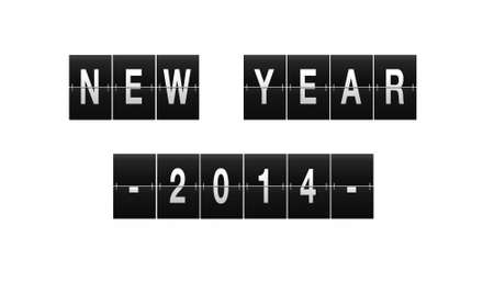 Illustration of a sign with the phrase New Year 2014 Stock Illustration - 21539519