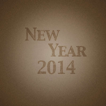 Illustration with wood effect and New year 2014 Stock Illustration - 21880065