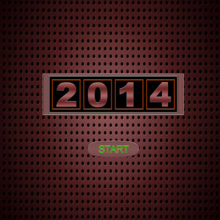 Illustration with 2014 start on red background  Stock Illustration - 22364898