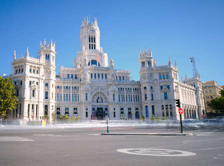 View of Cibeles Palace in Madrid, Spain