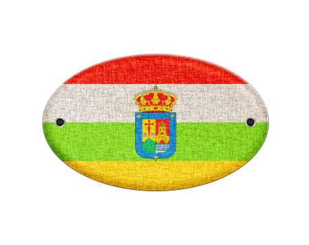 Illustration with a wooden La Rioja flag on white Stock Illustration - 24006784