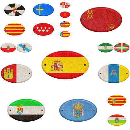 castilla: Illustration with a wooden sign of Spain  Stock Photo