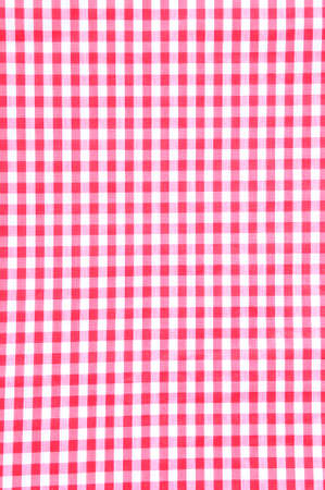 A red checkered fabric closeup tablecloth texture  photo