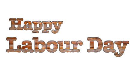 Illustration with a labour day on a white background  illustration