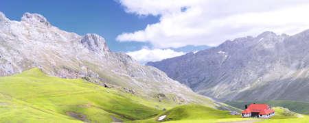 picos: Mountain pass of Aliva in Picos de europa, Spain  Stock Photo