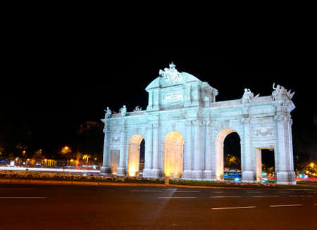 Puerta de Alcala of night in Madrid, Spain