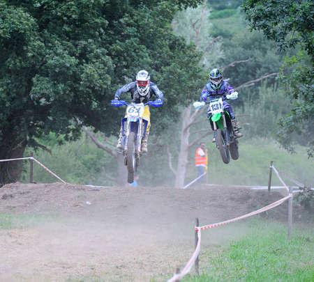 motorcross: El Berr�n, ESPA�A - 12 de julio Primera prueba de Berron motocross el 12 de julio de 2014 en El Berr�n, Espa�a prueba para el campeonato de motocross de Asturias