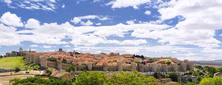 View walls of Avila city in Spain. photo
