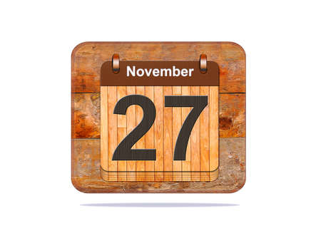 27: Calendar with the date of November 27. Stock Photo