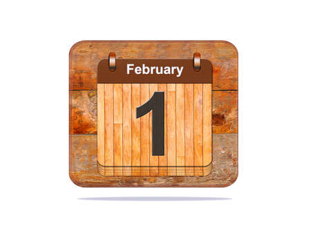 february 1: Calendar with the date of February 1.