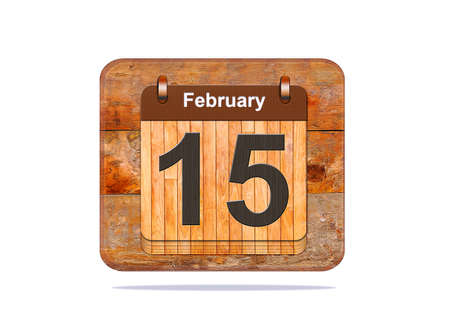 15: Calendar with the date of February 15.