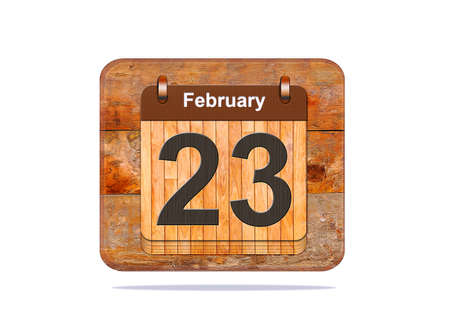 23: Calendar with the date of February 23.