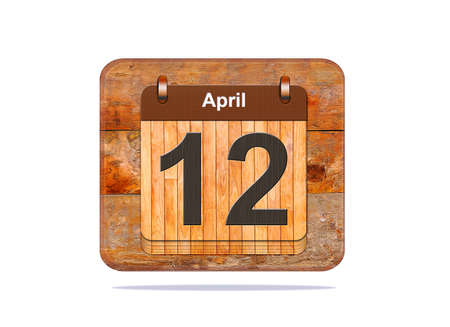 12: Calendar with the date of April 12.