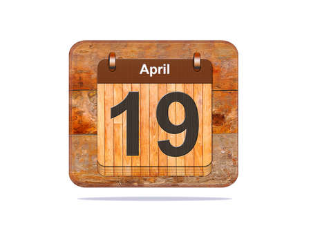 19: Calendar with the date of April 19.