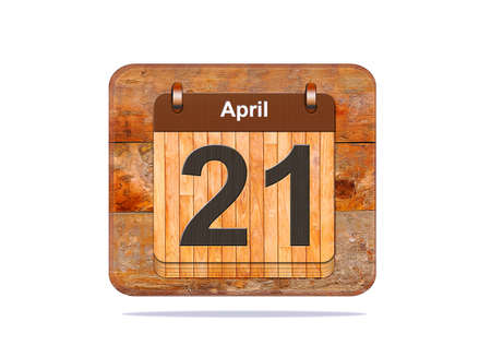 21: Calendar with the date of April 21.