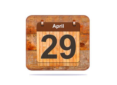 29: Calendar with the date of April 29.