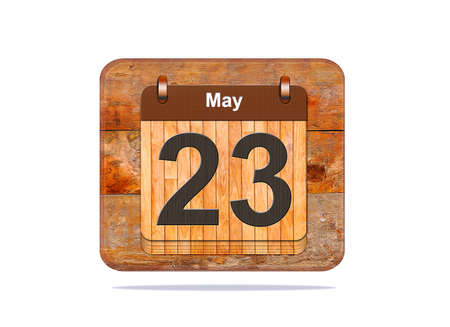 23: Calendar with the date of May 23.