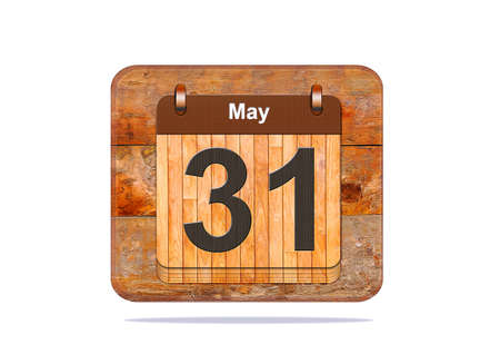31: Calendar with the date of May 31.