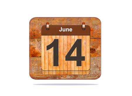 14: Calendar with the date of June 14.