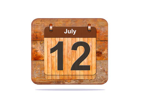 12: Calendar with the date of July 12.