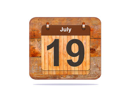 19: Calendar with the date of July 19.