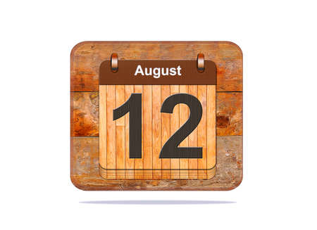a 12: Calendar with the date of August 12.