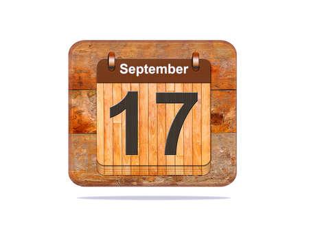 17: Calendario con la fecha del 17 de septiembre.