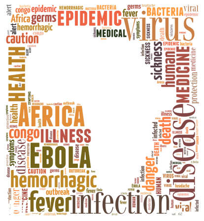 ebola: Words cloud illustration about the spread of Ebola in Africa