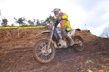 spain championship: VILLAVICIOSA, SPAIN - MARCH 22: The rider David Corrales on competition of Spain Championship Cross Country in March 22, 2015 in Villaviciosa, Spain.